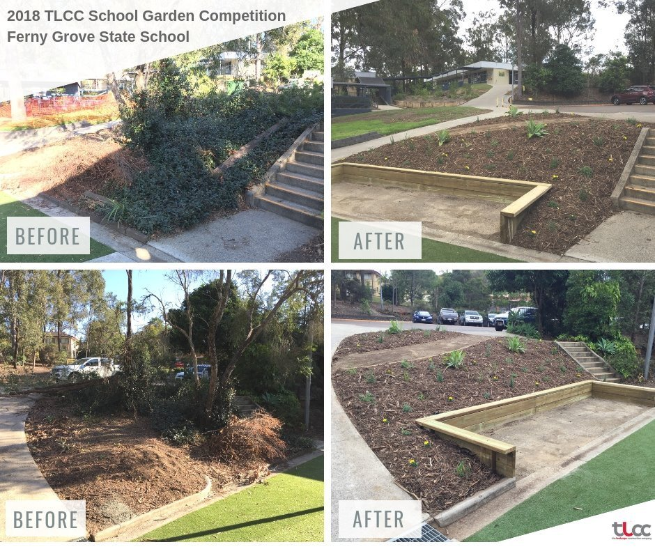 ferny grove state school garden competition before and after