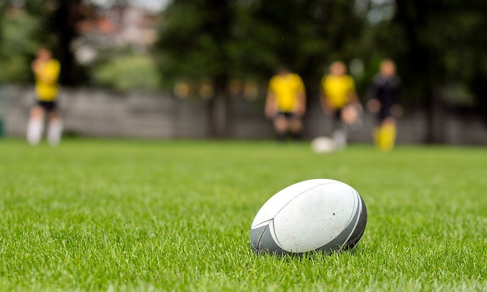 rugby ball in field