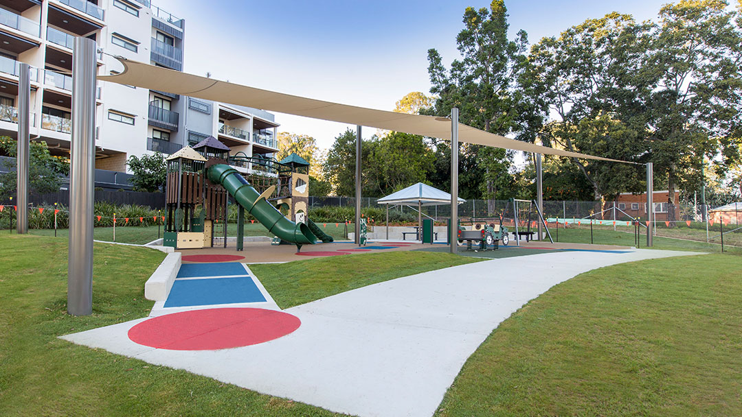 Government parks and public spaces project by TLCC in Indooroopilly Brisbane