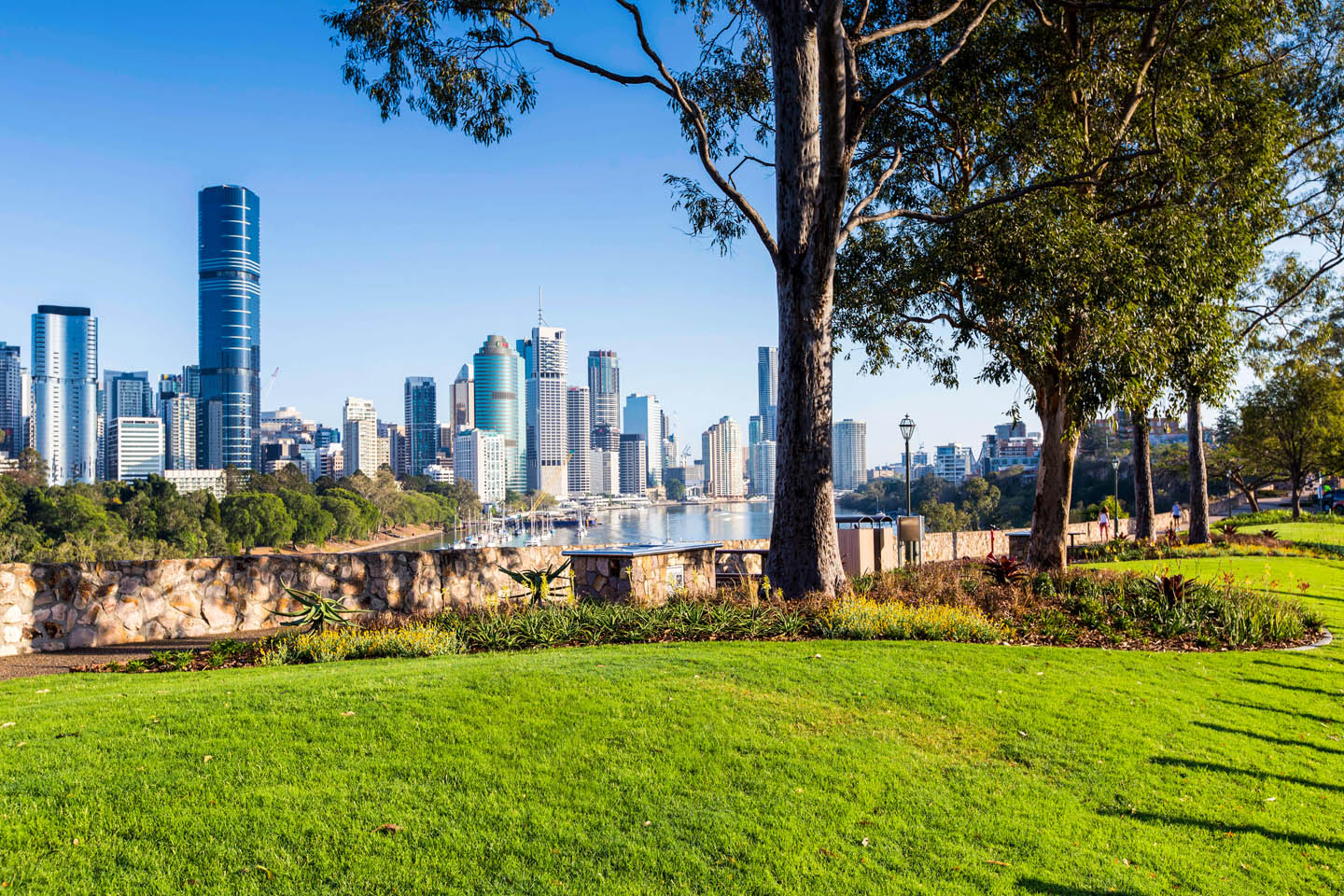 River Terrace Cliff-top Garden Renewal in Kangaroo Point Brisbane by TLCC