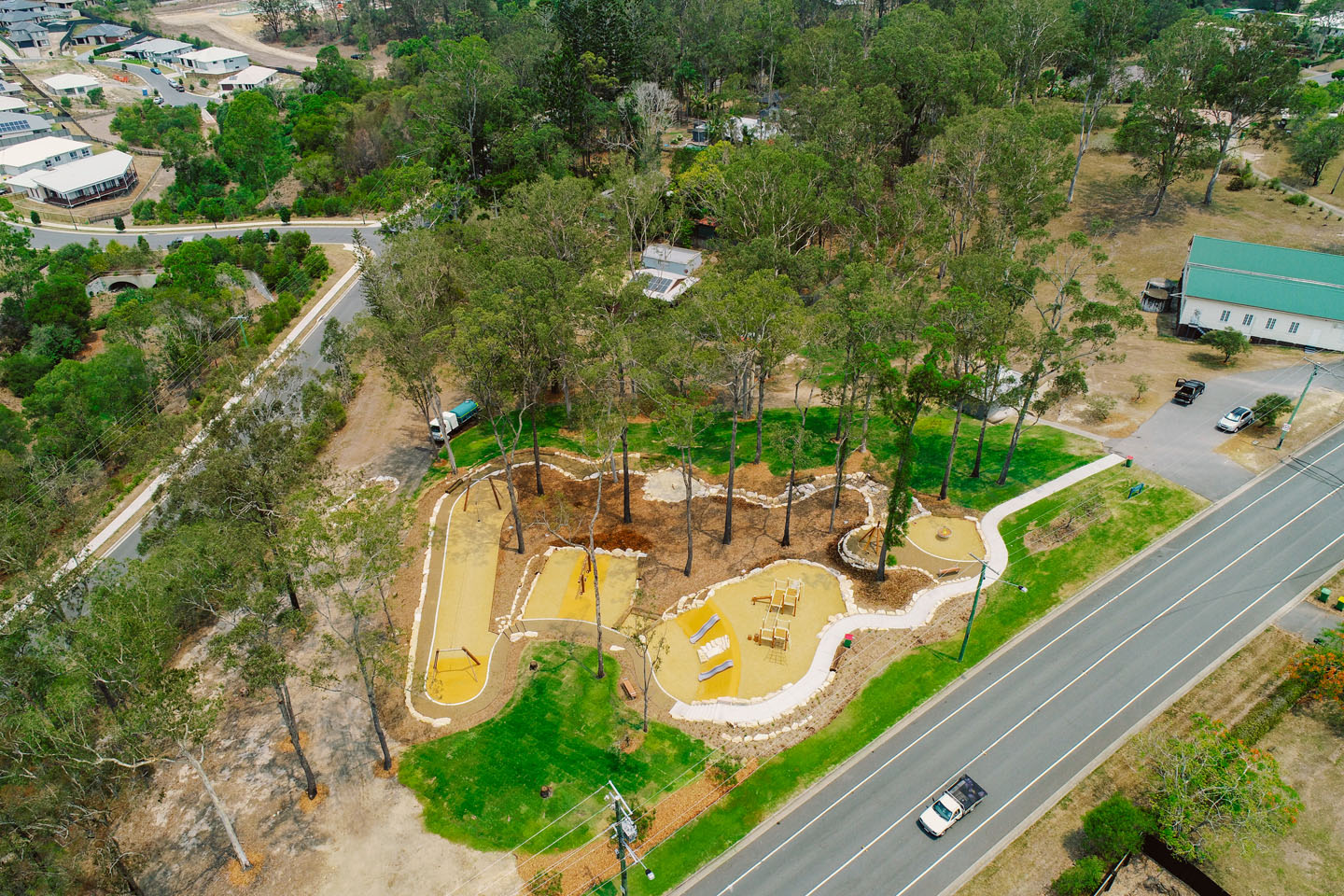 Nature Play Gilston Park playground construction project on the Gold Coast by TLCC